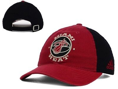 ad9d4992d8a New NWT NBA Miami Heat adidas NBA Team Nation Adjustable Slouch Hat Cap