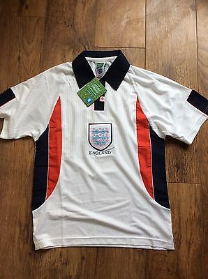 David BECKHAM #7 England Home Football Shirt World Cup 1998 Size S With Tag