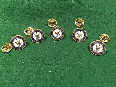 Lot of 5 1970's Vintage US Naval Postgraduate School Monterey Pins