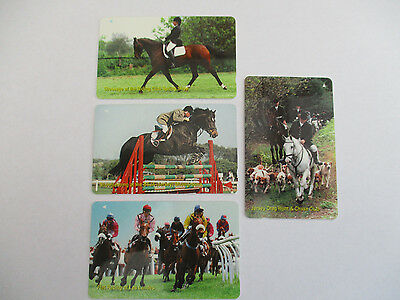 Jersey Phonecards - Horses set of 4 used cards in very good condition