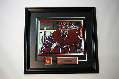 Cristobal Huet Signed Montreal Canadiens AUTOGRAPHED framed 8 X 10