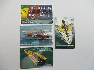 Jersey Phonecards - Powerboats set of 4 used cards in very good condition
