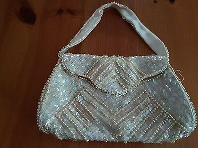 Vintage sequins and beaded evening bag