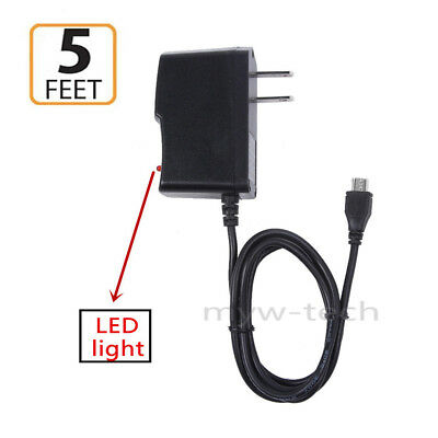 AC/DC Wall Charger Power Supply Adapter Cord For RCA Pro 10 RCT6203W46KB Tablet