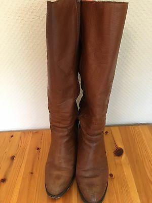 Office Tan Leather Knee High Boots Size 7