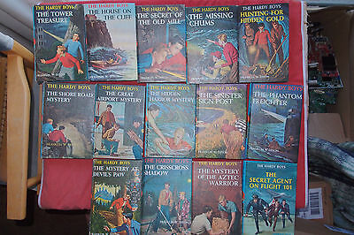 Lot of 14 The Hardy Boys Series books by Dixon; 1959 - 1967 Grosset and Dunlap
