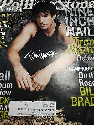 Trent Reznor Autographed 1999 Rolling Stone Magazine Issue 823