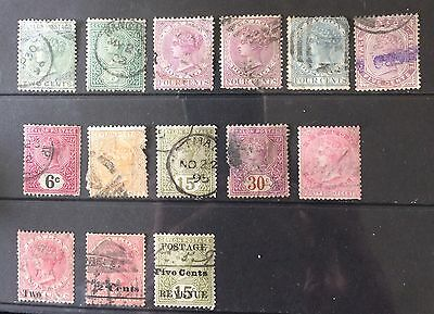 CEYLON. QV 1872 - 87 Issues. Mixed Condition
