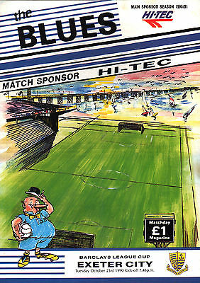1990/91 Southend United v Exeter City, League Cup, PERFECT CONDITION