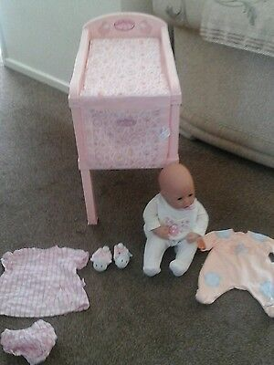 Lovely baby annabell changing station  with doll and extra clothes