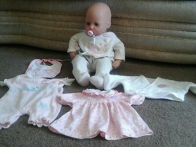 baby annabell doll with extra clothes