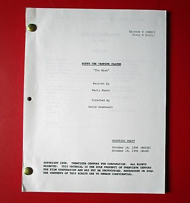 "Buffy The Vampire Slayer - SCRIPT - ""The Wish"" - (1998) - Shooting Draft - RARE"