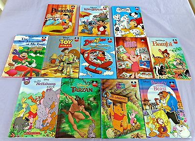 Lot of 12 Disney's  Wonderful World of Reading Hardcover Books Young Readers