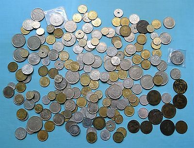 Spain Coins, Mixed Lot Incl Old Worn Coppers, Modern Commemoratives Etc