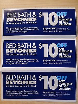 3 bed bath beyond coupons 10 off 30 purchase picclick ca. Black Bedroom Furniture Sets. Home Design Ideas