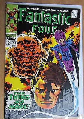Fantastic Four # 78 September 1968, The Thing No More, (Cents, Fn/Fn+)