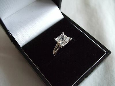 Diamonique Qvc Sterling Silver Solitaire Style Ring Size N Brand New