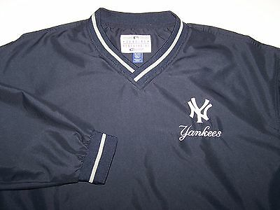 NWOT Adult New York Yankees Pullover Jacket Jersey XL Embroidered MLB Navy Blue