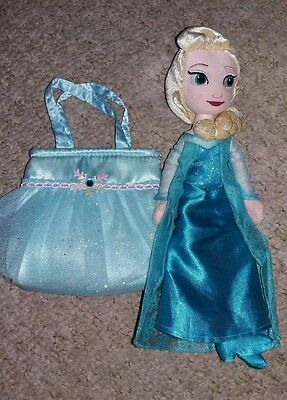 Disney princess queen elsa plush soft toy ragdoll doll