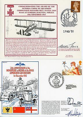 2 RARE First Day Cover, WW1, Royal Navy, Signed RNAS