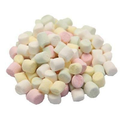 white pink yellow mix Mini Marshmallows ~ 100 200 300 500 or 1 kg in a pic