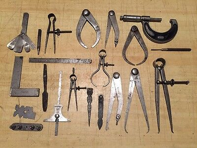Joblot/collection Of Vintage Engineering Tools -Moore & Wright,Brown & Sharpe