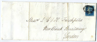 GB 1841 2d Blue cover on 1844 E Liverpook- London Just about 4 margs.466 cancel