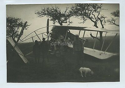 Early Air Crash Biplane Aircraft c1910s Photo