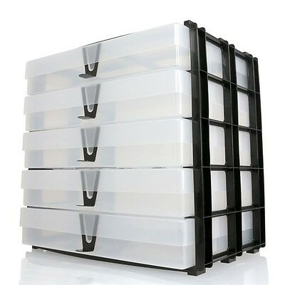 A4 Box Stak Unit Crafting Storage Rack Plus 5 A4 Boxes & Handles