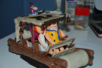 1/25 Custom Flinstone Slot Car Complete With Fred, Wilma And Dino- One Of A Kind