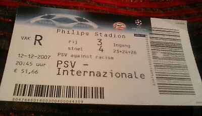 PSV v Intetnazionale 12/12/2007  Football Ticket Champions League