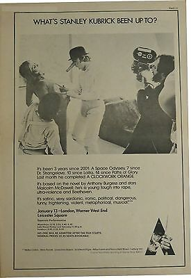 A Clockwork Orange full-page UK ad 1972 Stanley Kubrick Bonus x 5