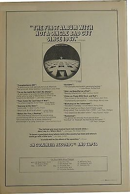 """Blue Oyster Cult """"Blue Oyster Cult"""" full-page US ad 1972 + Bonus"""