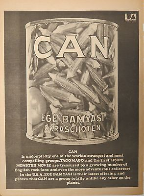 "Can ""Ege Bamyasi"" full-page UK ad 1972 + Bonus"