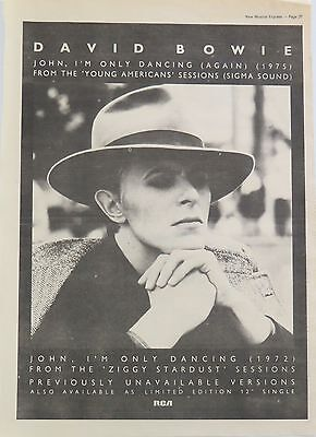 """David Bowie """"John, I'm only dancing"""" full-page ad UK 1979 (lean)"""