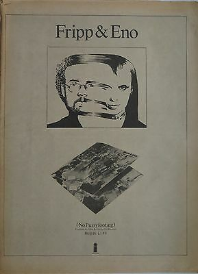 "Fripp & Eno ""No Pussyfooting"" 1973 full-page ad UK + Bonus x 3"