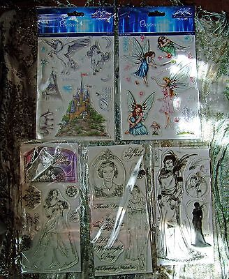 Clear Stamp Set Lot, Papermania and Debbie Moore