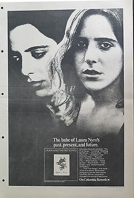 "Laura Nyro ""The First Songs"" full-page US ad 1973"
