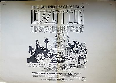"Led Zeppelin ""The Song Remains the Same"" double-page UK ad 1976 ~ Bonus"