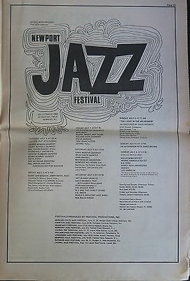 Led Zeppelin Newport Jazz Festival 1969 full-page ad