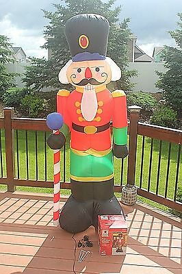 Christmas LED Lighted 6-1/2 Foot Airblown Inflatable NUTCRACKER Yard Decor