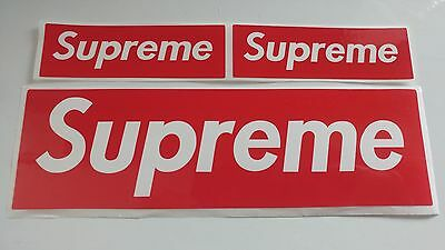 3 X Supreme Red Mixed Size Block Sticker (Large X 1 + Small X 2)