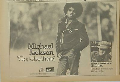 "Michael Jackson ""Got to be there"" ""Rockin' Robin"" UK ad 1972"