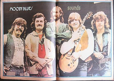 Moody Blues double-page colour poster UK 1973