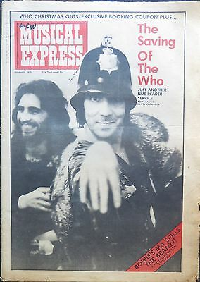 New Musical Express October 18, 1975 The Who Blue Oyster Cult Mike Oldfield