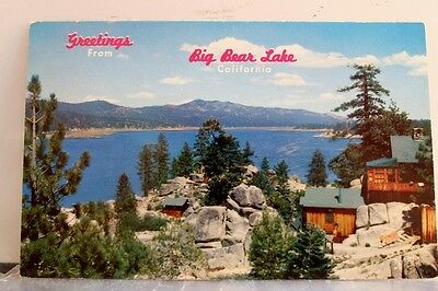 California CA Big Bear Lake Greetings Postcard Old Vintage Card View Standard PC