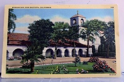 California CA Mission San Juan Bautista Postcard Old Vintage Card View Standard