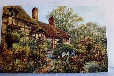 United Kingdom Anne Hathaway Cottage Postcard Old Vintage Card View Standard PC