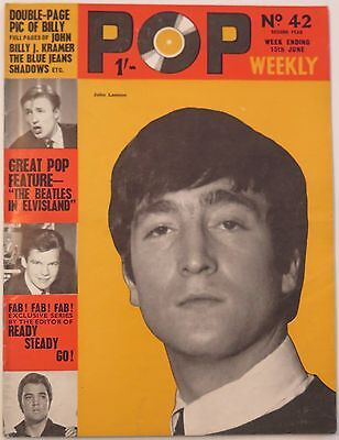Pop Weekly magazine June 13 1964 The Beatles Rolling Stones Billy Fury