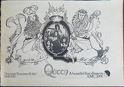 "Queen ""Queen"" album ""Keep yourself alive"" single UK ad 1973 + Bonus"